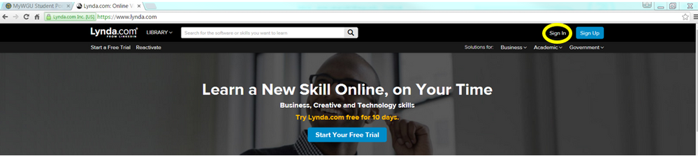 Lynda with portal signin labeled.PNG
